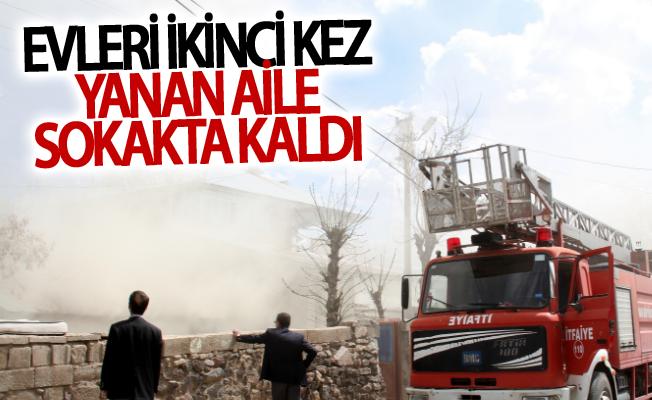 Muradiye'de Evleri ikinci kez yanan aile sokakta kaldı