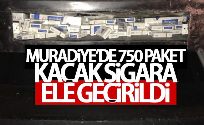 Muradiye'de 750 paket kaçak sigara ele geçirildi