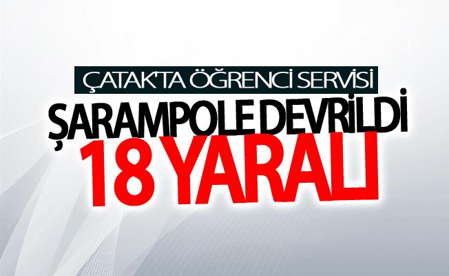 Öğrenci servisi şarampole devrildi: 18 yaralı
