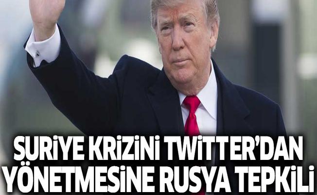 Rusya'dan Trump'a twitter tepkisi
