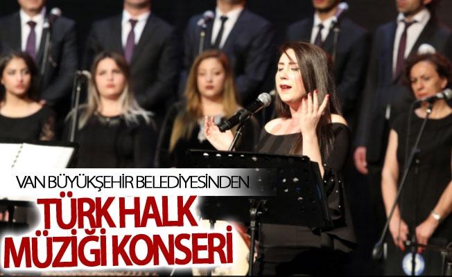 Van Büyükşehir Belediyesinden Türk halk müziği konseri