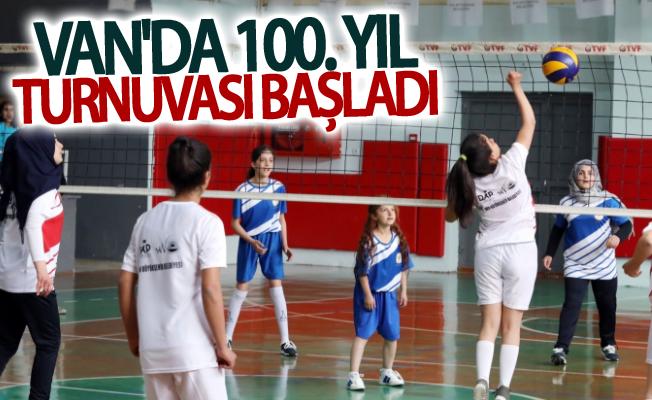 Van'da 100. yıl turnuvası başladı