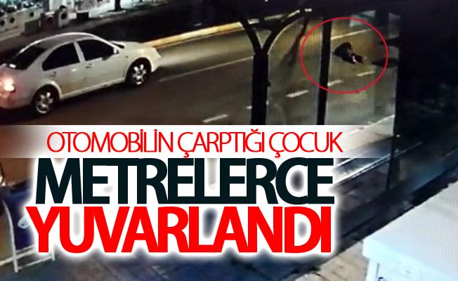 Van'da Otomobilin çarptığı çocuk metrelerce yuvarlandı