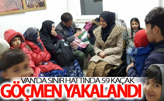 Van'da sınır hattında 59 kaçak göçmen yakalandı