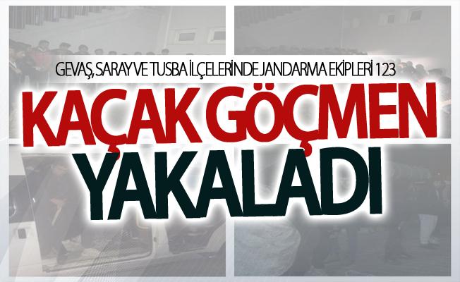 Gevaş, Saray ve Tusba ilçelerinde 123 kaçak göçmen yakalandı