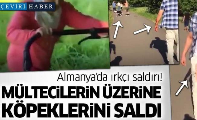Almanya'da ırkçı saldırı! Suriyeli mültecilerin üzerine köpeklerini saldı!