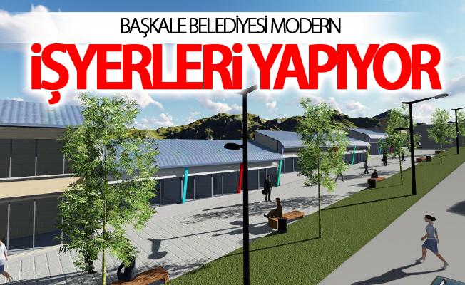 Başkale'ye Baraka Büfelerin Yerine Modern Dükkânlar