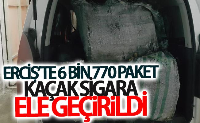Erciş'te 6 bin 770 paket kaçak sigara ele geçirildi