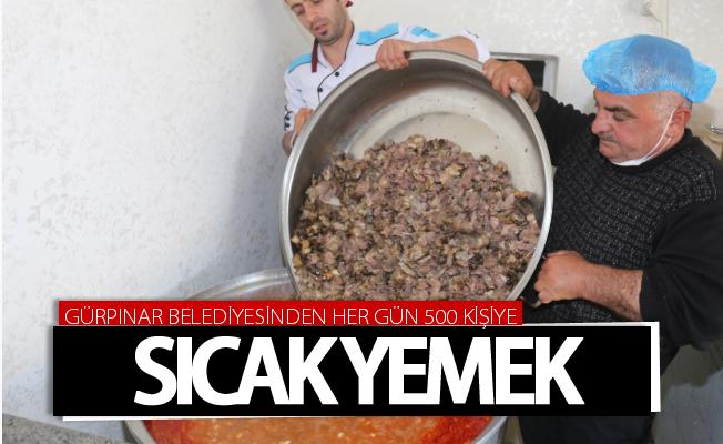 Gürpınar Belediyesinden her gün 500 kişiye sıcak yemek