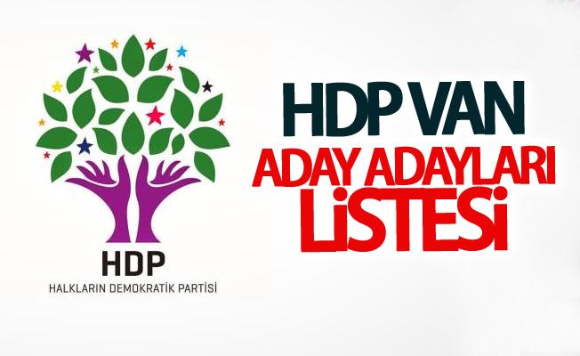 HDP Van aday adayları listesi