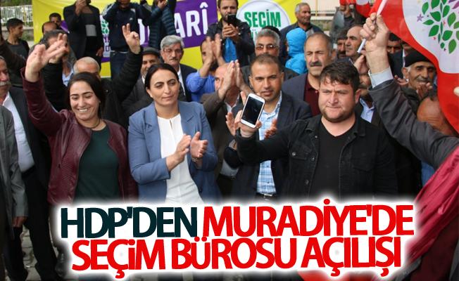 HDP'den Muradiye'de seçim Bürosu açılışı