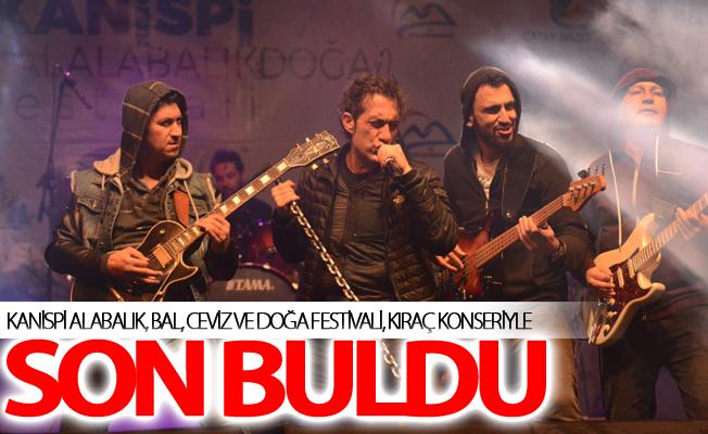Kanispi Alabalık, Bal, Ceviz ve Doğa Festivali, Kıraç konseriyle son buldu