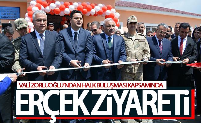 Vali Zorluoğlu Halk Buluşması kapsamında Erçek'i ziyaret etti