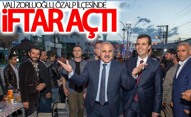 Vali Zorluoğlu, Özalp ilçesinde iftar açtı
