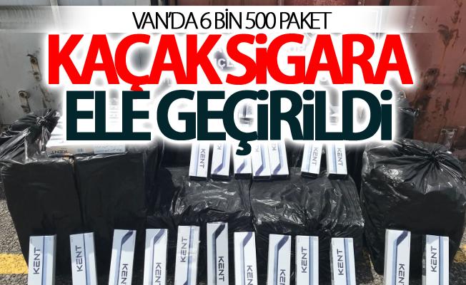 Van'da 6 bin 500 paket kaçak sigara ele geçirildi