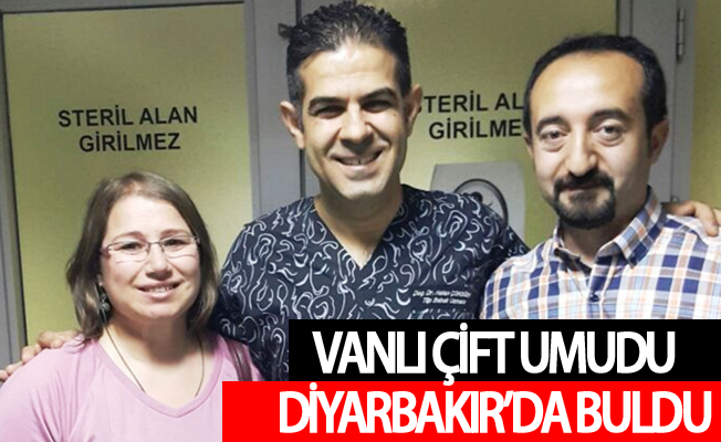 Vanlı çift umudu Diyarbakır'da buldu