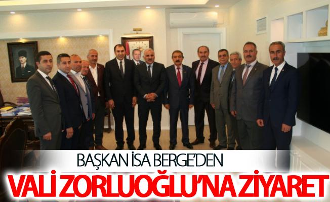 Başkan Berge'den Vali Zorluoğlu'na ziyaret