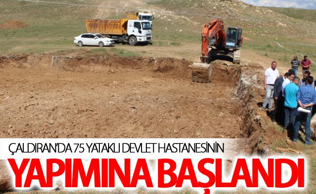 Çaldıran'da 75 yataklı devlet hastanesinin yapımına başlandı