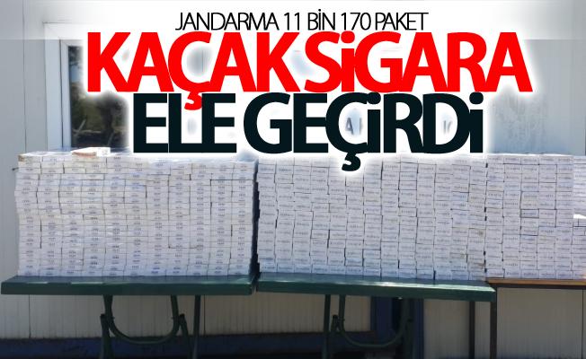 Jandarma 11 bin 170 paket kaçak sigara ele geçirdi