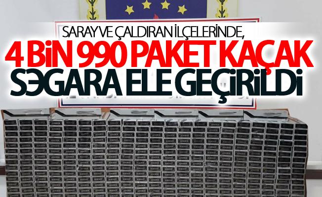 Saray ve Çaldıran İlçelerinde, 4.990 paket kaçak sigara ele geçirildi