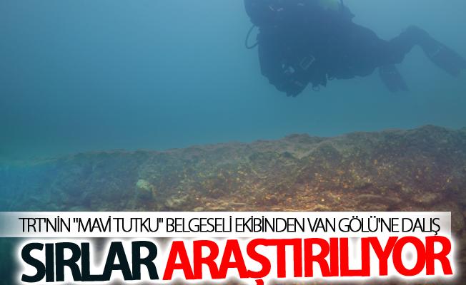 """TRT'nin """"Mavi Tutku"""" belgeseli ekibi, Van Gölü'ne dalış yaptı"""