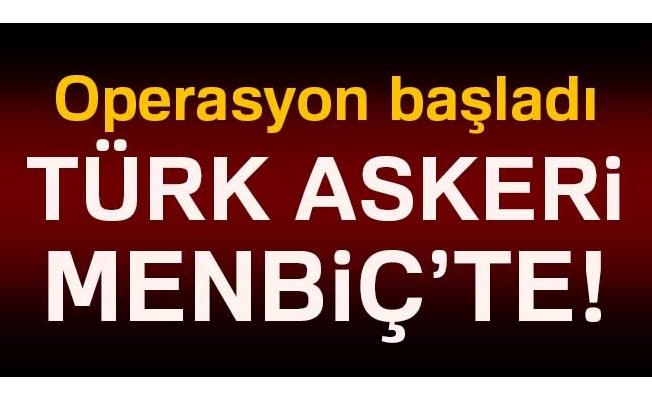 Türk askeri Menbiç'e girdi