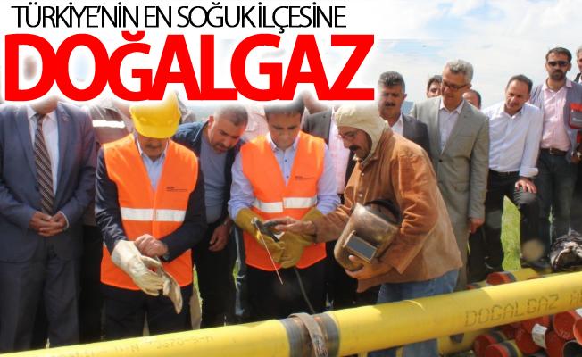 Türkiye'nin en soğuk ilçesine doğalgaz