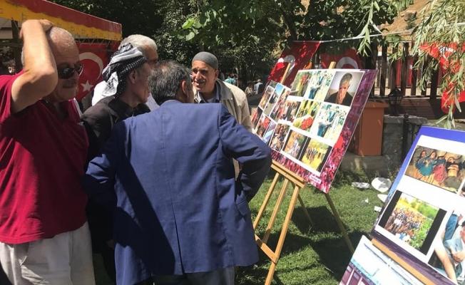 10'u çocuk 24 vatandaş, açılan resim sergisi ile anıldı