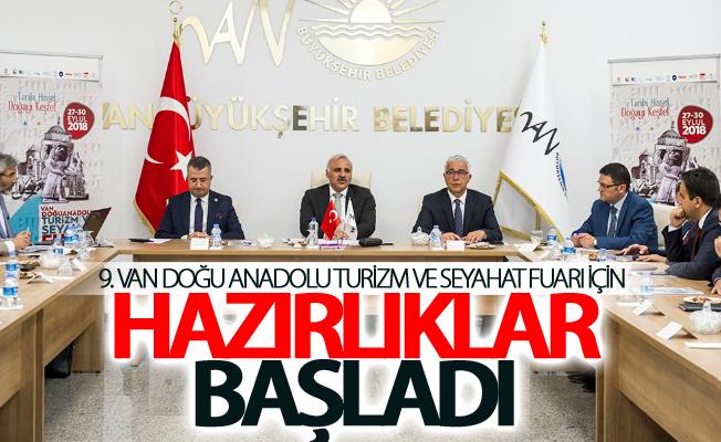 9. Van Doğu Anadolu Turizm ve Seyahat Fuarı için hazırlıklar başladı