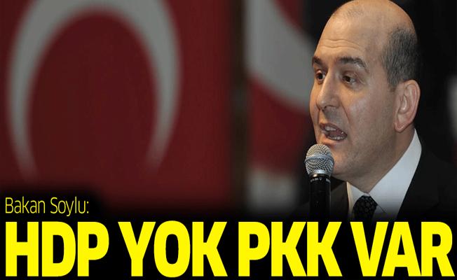 Bakan Soylu: HDP yok, PKK var