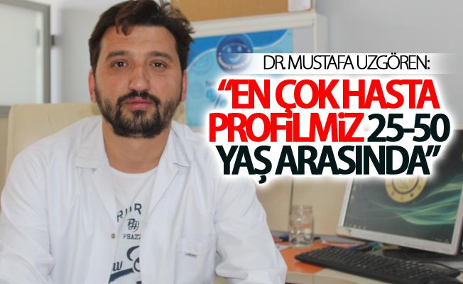 """Dr. Mustafa Uzgören:""""En çok hasta profilimiz 25-50 yaş arasında"""""""