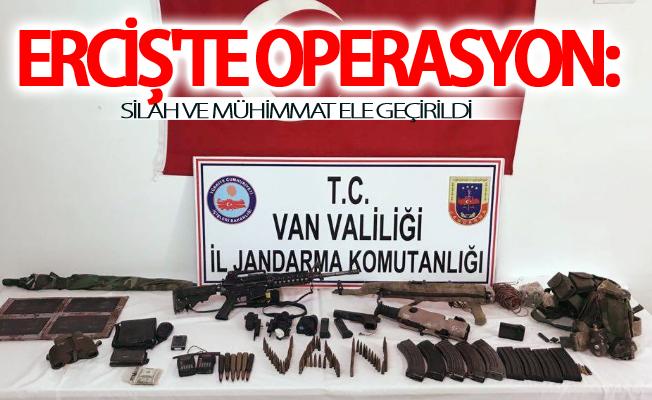 Erciş'te operasyon: silah ve mühimmat ele geçirildi