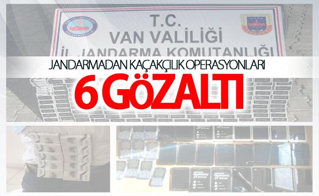 jandarmadan kaçakçılık operasyonları :6 gözaltı