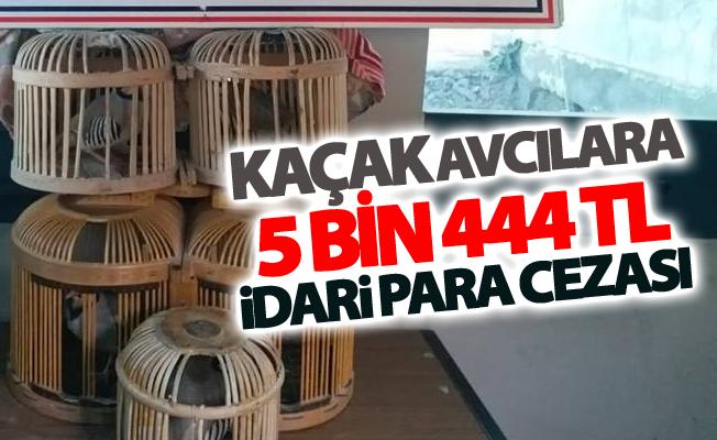 Kaçak av yapan 2 kişiye toplam 5 bin 444 TL idari para cezası