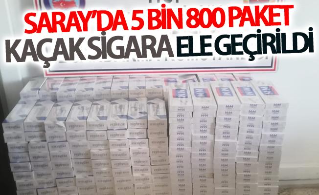 Saray'da 5 bin 800 paket kaçak sigara ele geçirildi
