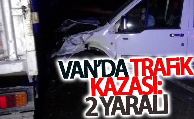 Van-Erciş karayolunun 25. kilometresinde trafik kazası meydana geldi