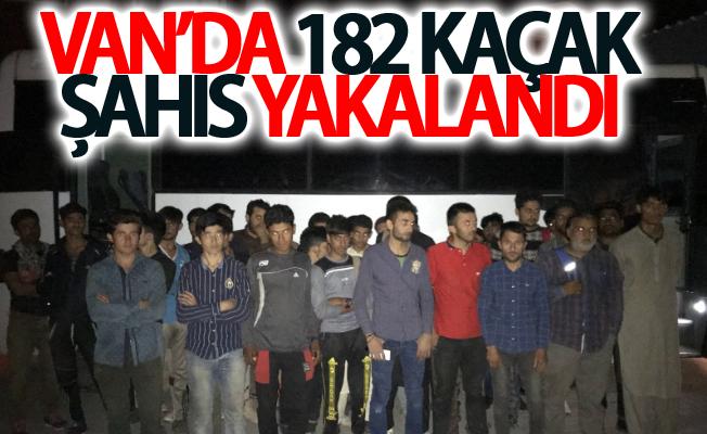 Van'da 182 kaçak şahıs yakalandı