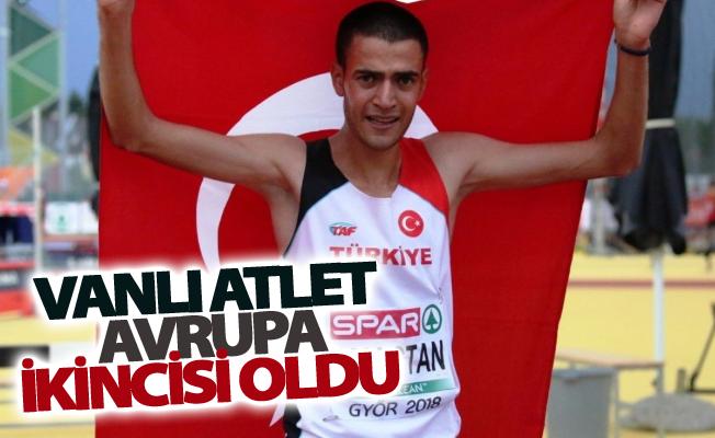 Vanlı atlet Avrupa ikincisi oldu