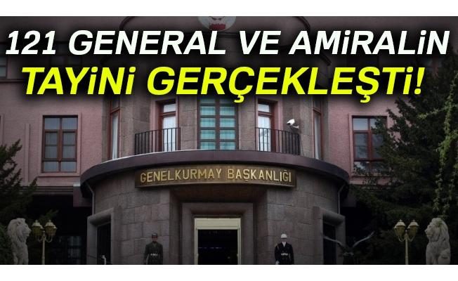 121 general ve amiralin tayini gerçekleşti
