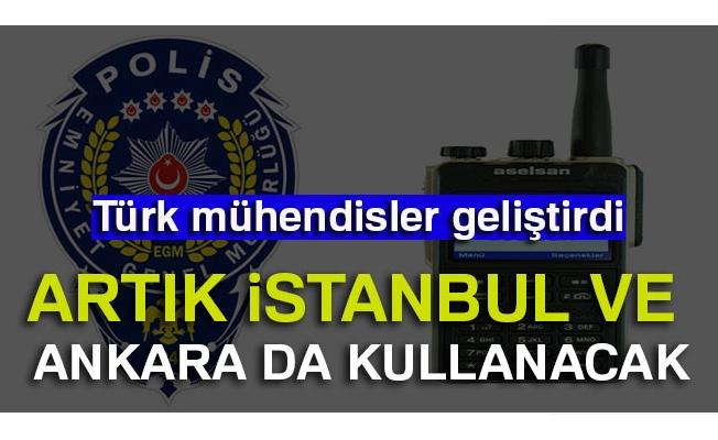 Ankara ve İstanbul polisi için milli kriptolu telsiz