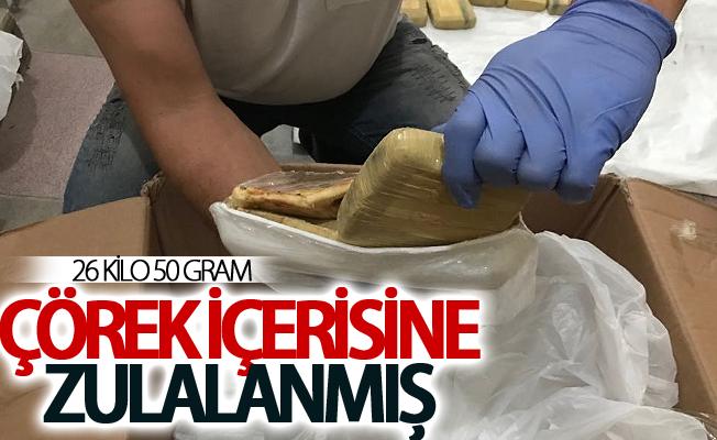 Çörek içerisine zulalanmış 26 kilo 50 gram eroin ele geçirildi