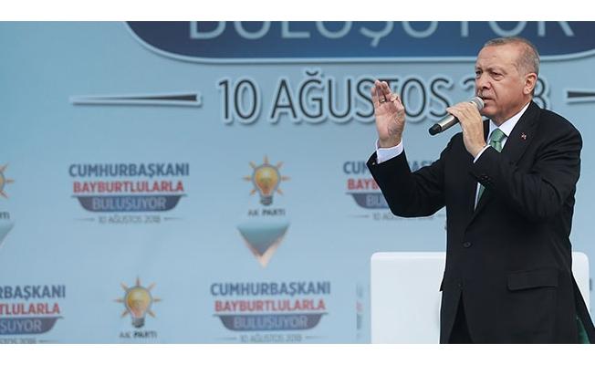 Cumhurbaşkanı Erdoğan: 'Neymiş, dövizmiş, neymiş kurmuş, geçin o işi geçin'