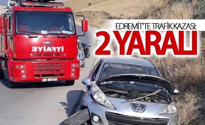Edremit'te trafik kazası: 2 yaralı
