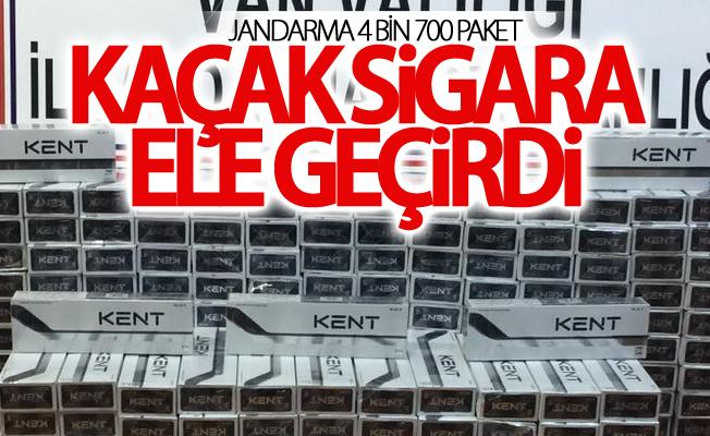 Jandarma 4 bin 700 paket kaçak sigara ele geçirdi