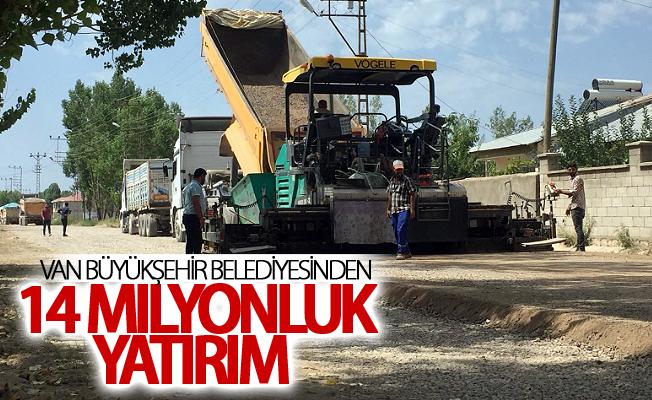 Van Büyükşehir Belediyesinden Erciş'e 14 milyonluk yol yatırımı