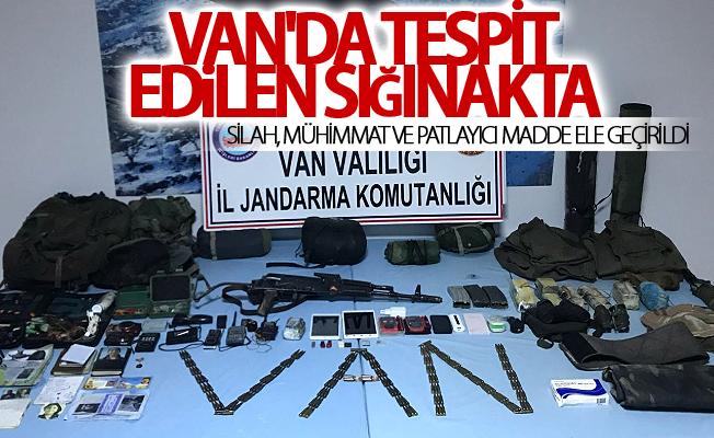 Van'da tespit edilen sığınakta silah, mühimmat ve patlayıcı madde ele geçirildi