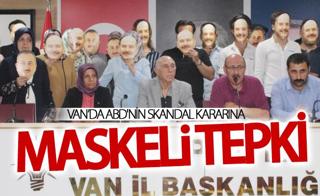 Van'da ABD'nin skandal kararına maskeli tepki
