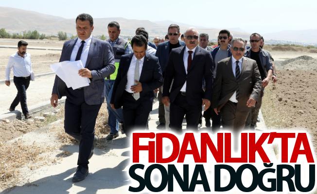 Zorluoğlu, 'Fidanlık Parkı'nda yapılan çalışmaları yerinde inceledi