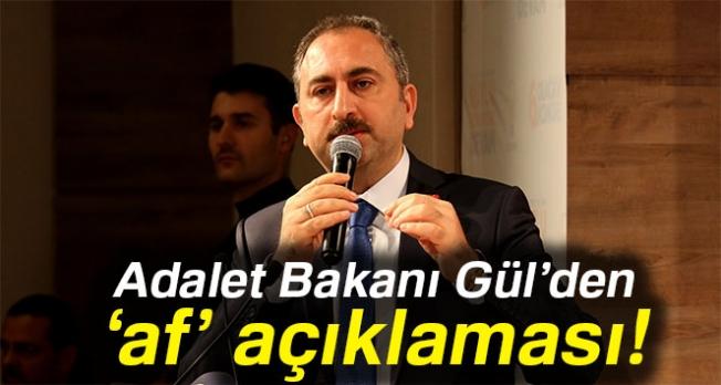 Bakan Gül'den 'af' açıklaması: