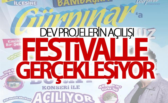 Dev projelerin açılışı festivalle gerçekleşiyor